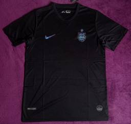 Camisa da Inglaterra preta (Disponível: GG)
