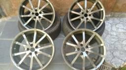 Jogo de rodas 17 TSW com pneus  furacao golf  Polo,Fox