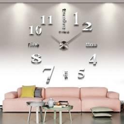 Relogio estilo moderno diy 3d espelho adesivo escritório em casa decoração