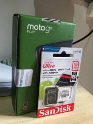 Moto G8 Play Preto 64GB - Novo Caixa Lacrada
