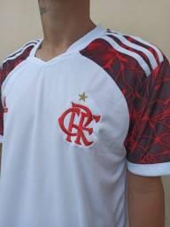 Camisa Branca do Flamengo 2021 Uniforme 2