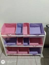 Organizador infantil 11 caixas usado R$100,00