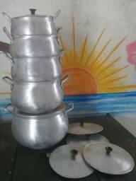 Vendo jogo de caldeirão alumínio  grosso