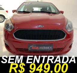 Ford Ka 1.0 Se Único dono 2015 Vermelha