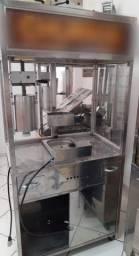 Máquina de churros semi nova Inox LM elétrica