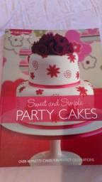 Livro para confeitaria de bolos -