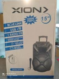 Caixa de Som XION 5500 W, c rádio FM Amplificada Entrada USB
