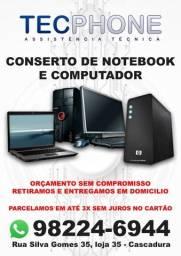 Conserto de Notebooks e computadores
