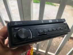 Som DVD automotivo Lenoxx seminovo Touch screen retrátil