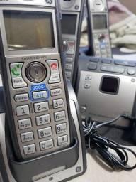 Conjunto Telefone Sem Fio com Sistema Atendimento Digital 3 Bases