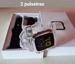Iwo12 com 1 pulseira + 1 capa pulseira transparente