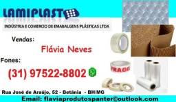 Plastico bolha, filme stretch, papel ondulado