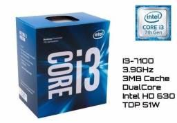 Processador I3 7100 Semi novo em perfeito estado de conservação, com nota fiscal