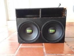 "Caixa c/ 2 Triton 550 rms 12"" Music Live"