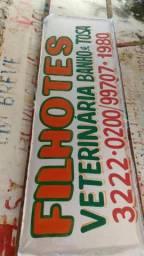 Faixas placas e letreiros em fachadas WhatsApp 991130507