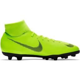 Chuteira Campo Nike Mercurial Superfly 6 Club Verde E Preto 0c4832766cca8