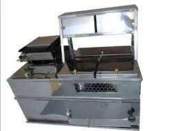Kit Hot Dog - Máquina de Cachorro quente - Sanduiches - Lanches - Chapa com Prensa Para Ca