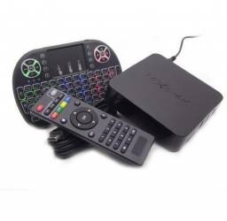 Smart Tv Box X 4k 7.1 Youtube Netflix Teclado Led* Nota fiscal