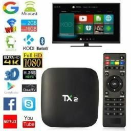Smart Tv Box Android Tx2 4k 16gb 2gb Ram Bluetooth