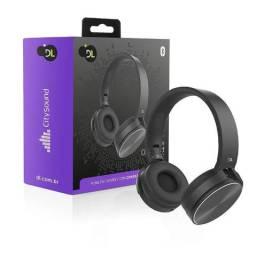 Fone De Ouvido Bluetooth Dl Citysound Cs7 Dobravel Preto