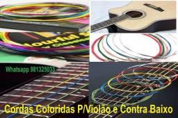 Cordas coloridas violão e contra baixo violão nas opções nylon & aço -Guitarra comprar usado  Aparecida De Goiânia