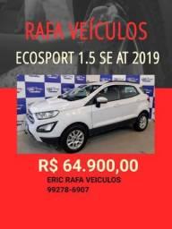 ECOSPORT SE 1.5 AT 2019 R$ 64.900,00 - ERIC RAFA VEICULOS