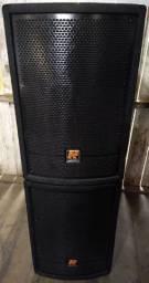 Vendo troco caixas ativas staner falante de 15 e drive.. equipamento de Alta qualidade