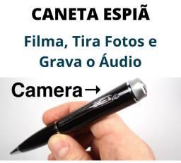 Caneta Filmadora Espiã Faz Filmagens Super Discreta