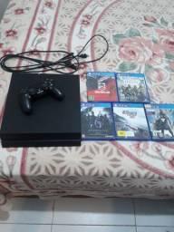 PlayStation (ps4 ) + 5 jogos