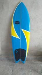 """Prancha de surf  5'5""""- Fish retrô biquilha"""