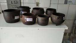 Panelas de ferro antigo