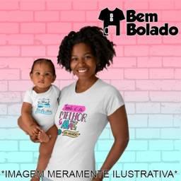 Conjunto Primeiro Dia das Mães body + camiseta