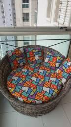 sofá chaise área externa