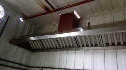 Coifas para exaustão de cozinha industrial, dutos e exaustores