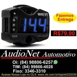 Mini Voltímetro Digital Stetsom Mini Vt Medidor Potencia Som Modulo Voltimetro