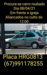 Carro roubado placa HRG0813