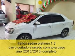 ##etios sedan platinun 1.5 selado quitado com ipva pago
