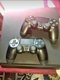 PlayStation 4 slim 1 TB 2 controle 7 jogos