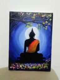 """""""Buda"""" tela acrílico pintar com mão"""