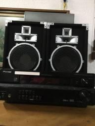Receiver Pioneer VSX-515 c/ caixas