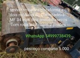 peças da Colheitadeira MF 34 pescoço módulos pistões  plataforma pneus traseiros