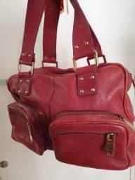 Bolsa couro legitimo Corello novissima e linda , vermelha entrego maos shopping sta cruz