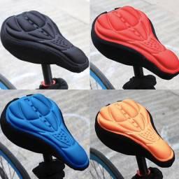 Capa Assento Selim em Gel Para Bicicleta Bike 3d Ajustável