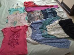 Lote de roupas menina infantil