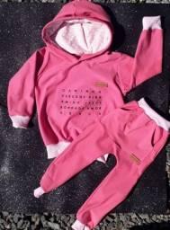 Roupas de bebê, blusa e calça moletom infantil