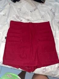 short saia nunca usado