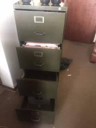 Vendo arquivo de aço para pasta suspensa com 4 gavetas/separador