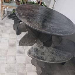 Mesa de ardósia para jardim