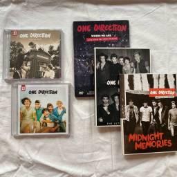Kit CD One Direction com 4 álbuns + DVD Where We Are Tour