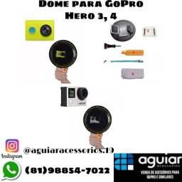 Dome GoPro Hero 3, 3+, 4 e outras câmeras